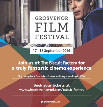 Grosvenor Film Festival weekend flyer
