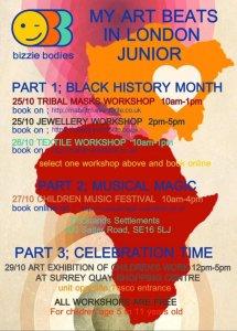 Black history Month Workshops with BIzzie Bodies