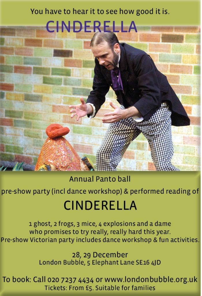London Bubble Cinderella A Panto Party