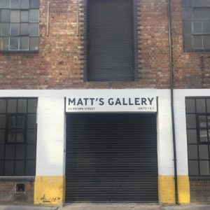 Matt's Gallery entrance