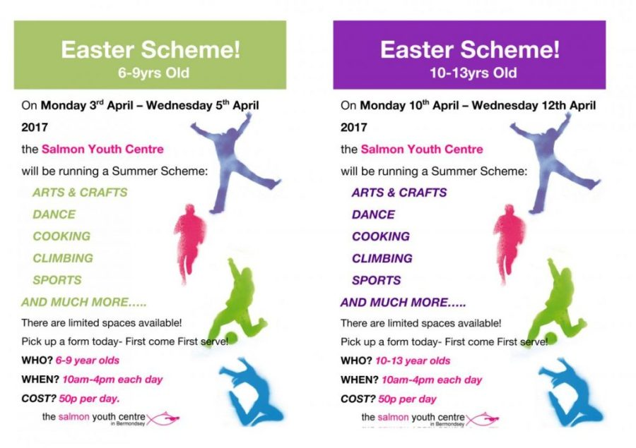 Salmon Youth Centre Easter 2017 Activities Programme