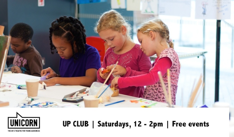 Unicorn Theatre Saturday Up Club Children activities
