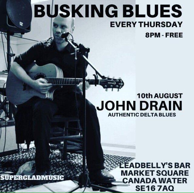 Leadbelly's Thursday Busking Blues - John Drain