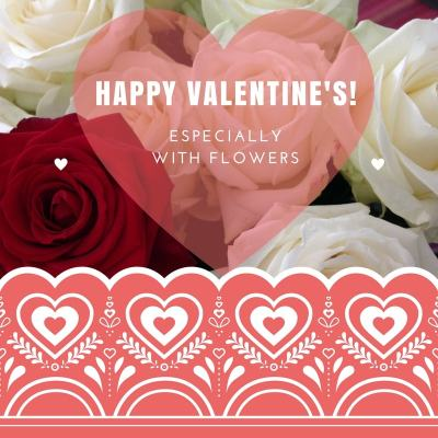 Wish a Happy Valentine\'s Day, especially with flowers!