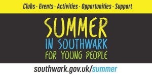 Summer In Southwark For Young People Banner