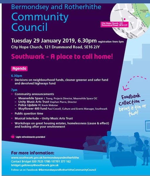 Rotherhithe Bermondsey Community Council January 2019