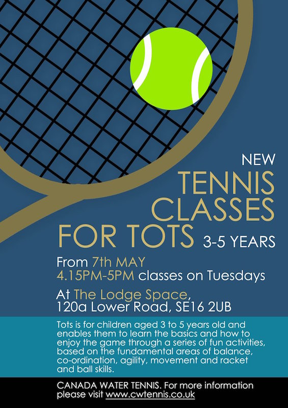 Canada Water Tennis Tots Classes Lodge Space