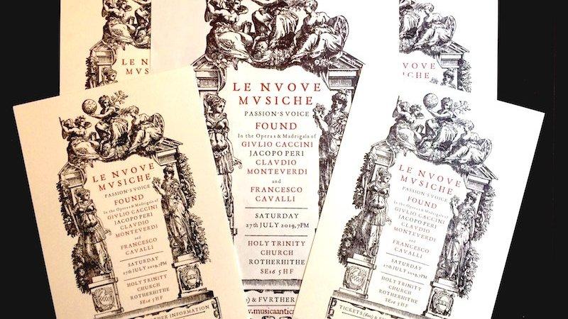 Musica Antica presents Le Nuove Musiche, or The New Music