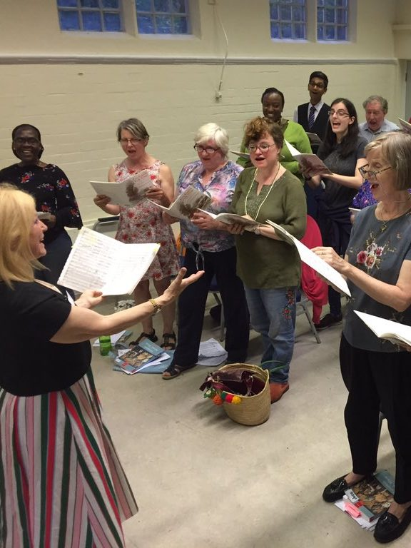 Rotherhithe and Bermondsey Choral Society singing session