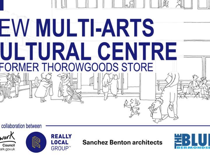 Multi-arts and cultural centre in the blue