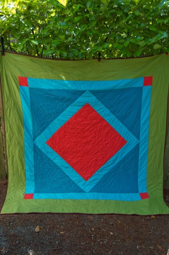 Amish-inspired custom quilt by Wise Craft
