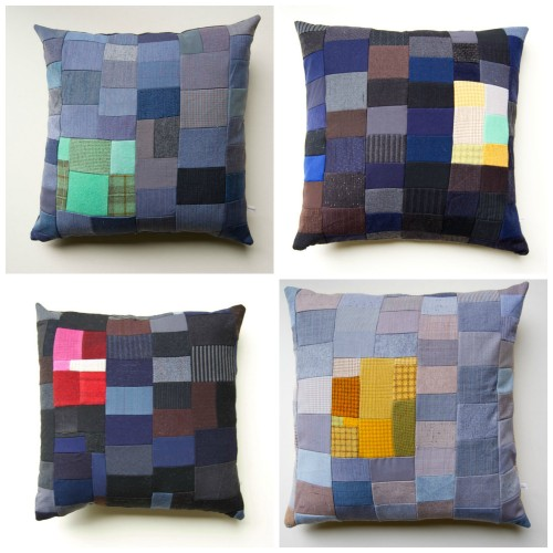 Salesman Swatch pillows by Wise Craft Handmade