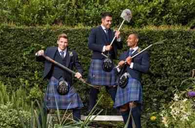 Navy Tweed Highland group