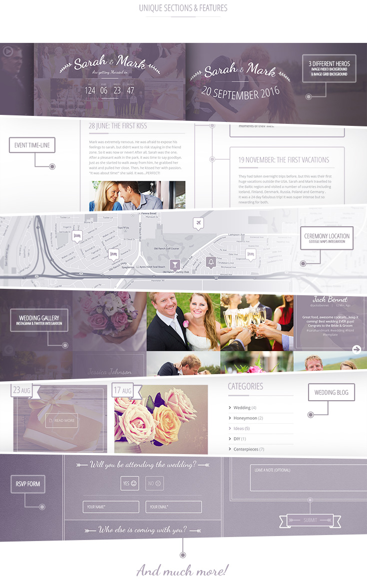 Lilac- Responsive One-page HTML5 Wedding Template - 3