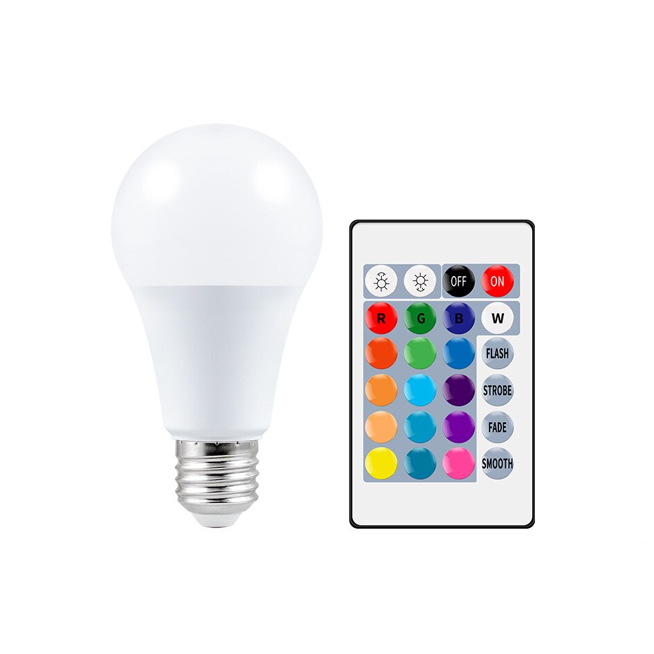 E27 RGB Smart Bulb with Remote Control | Get Offers With Wise Outlets |