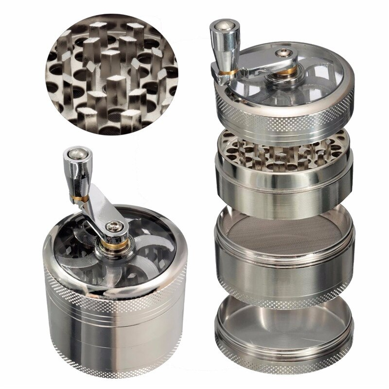 4 Layers Aluminum Tobacco Grinder For Your Flexibility   Wise Outlets  