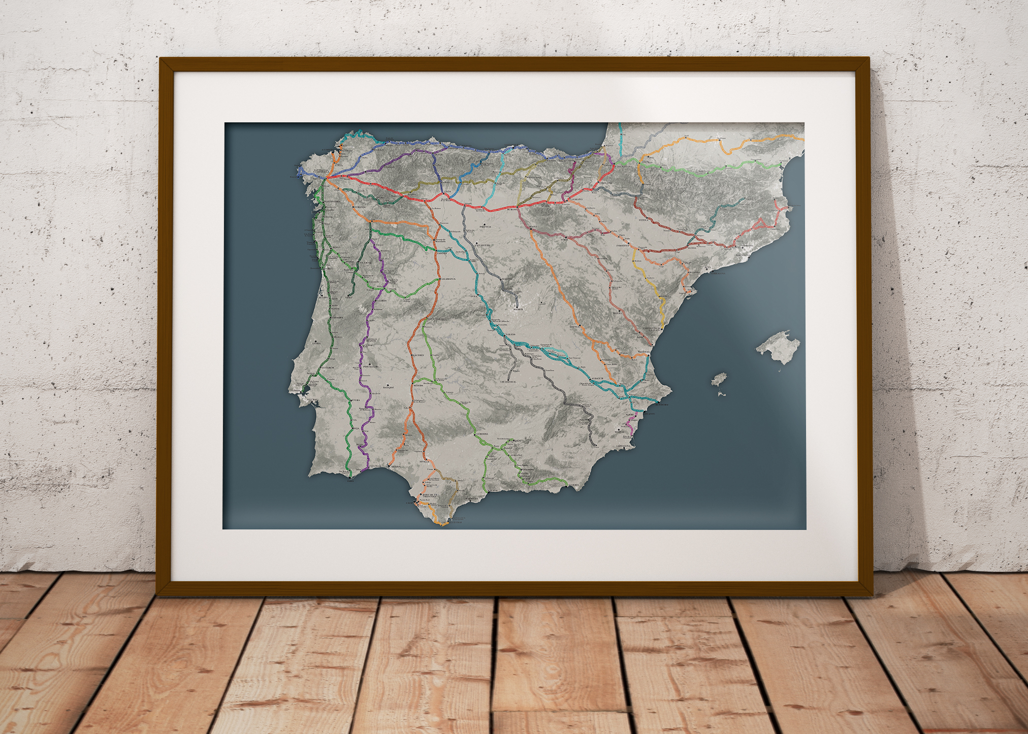 The Big Map of the Camino de Santiago   Wise Pilgrim Guidebooks for     The Big Map of the Camino de Santiago