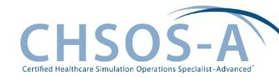 Congratulations Tom Dongilli on earning Certified Healthcare Simulation Operations Specialist-Advanced™ (CHSOS-A™)