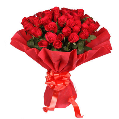 Ruby Red 40 Red Roses