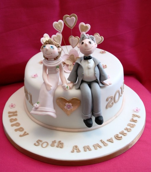 Couple Anniversary Cake
