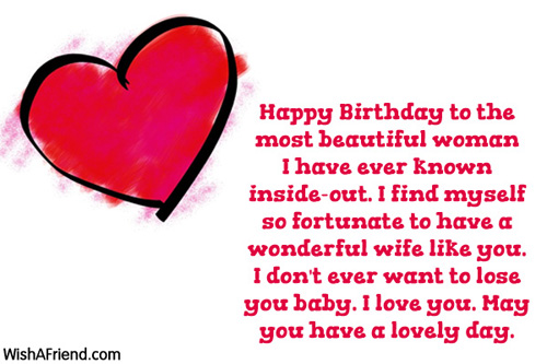 Happy Birthday To The Most Beautiful Birthday Wishes For Wife