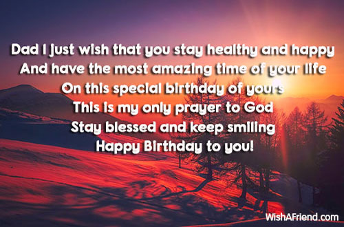 Dad I Just Wish That You Birthday Wish For Dad