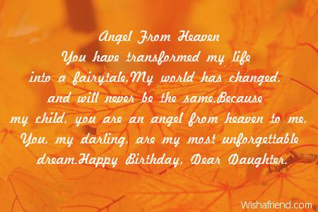 Daughter Birthday Poems