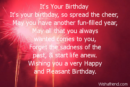 Friends Birthday Poems