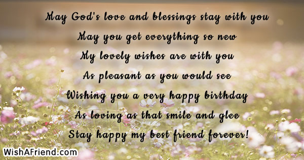 May God S Love And Blessings Stay Friends Birthday Quote