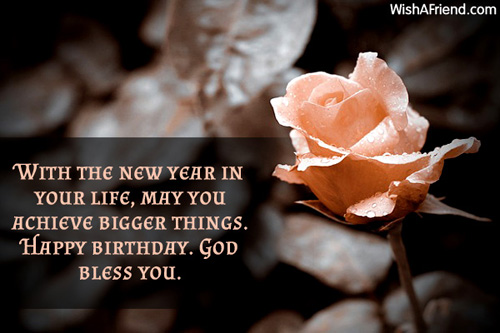 With The New Year In Your Happy Birthday Message