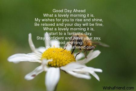 Good Morning Poem Good Day Ahead