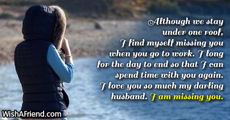 Missing You Messages For Husband