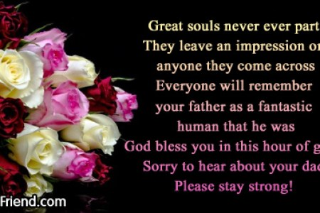 friends father sympathy messages address db
