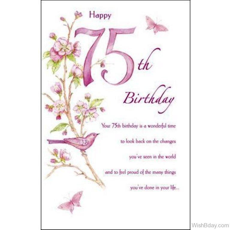 19 75th Birthday Wishes