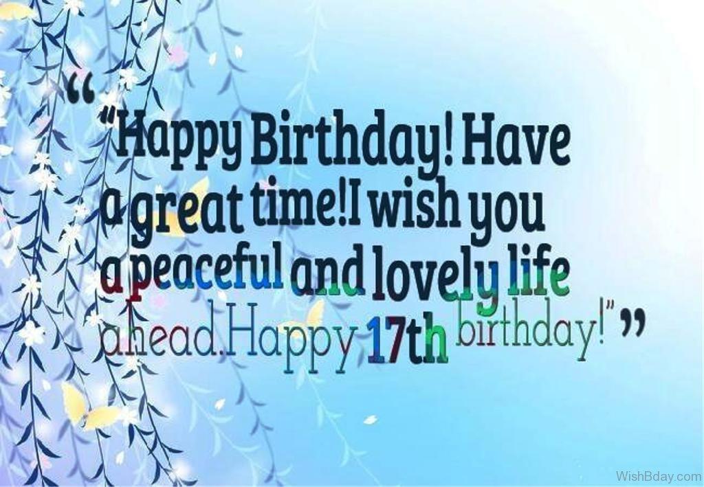 50 17th Birthday Wishes