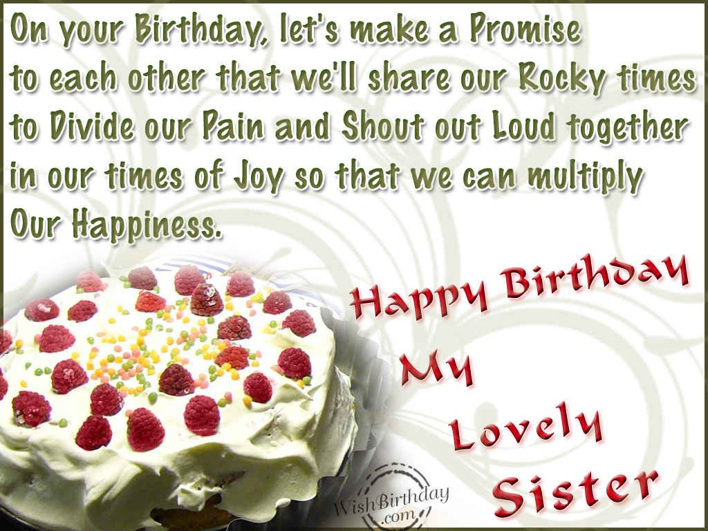 Happy Birthday Wishes To My Lovely Sister Stuvera