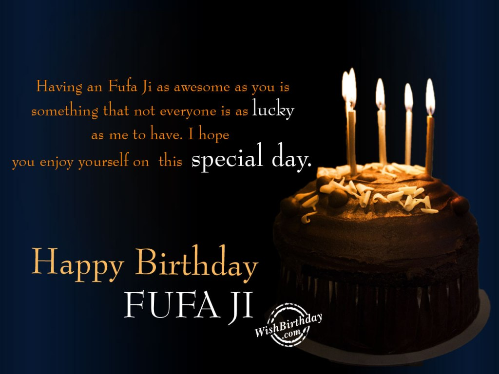 Birthday Wishes For Fufa Ji