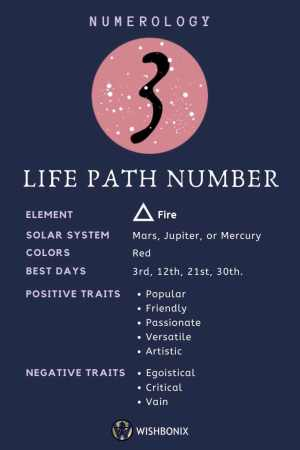 Life Path Number 3 Infographic