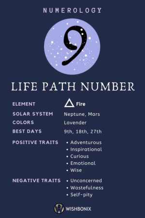 Life Path Number 9 Infographic