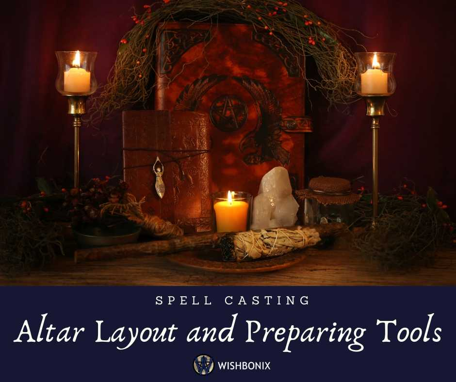 Altar Layout and Witchcraft Tools