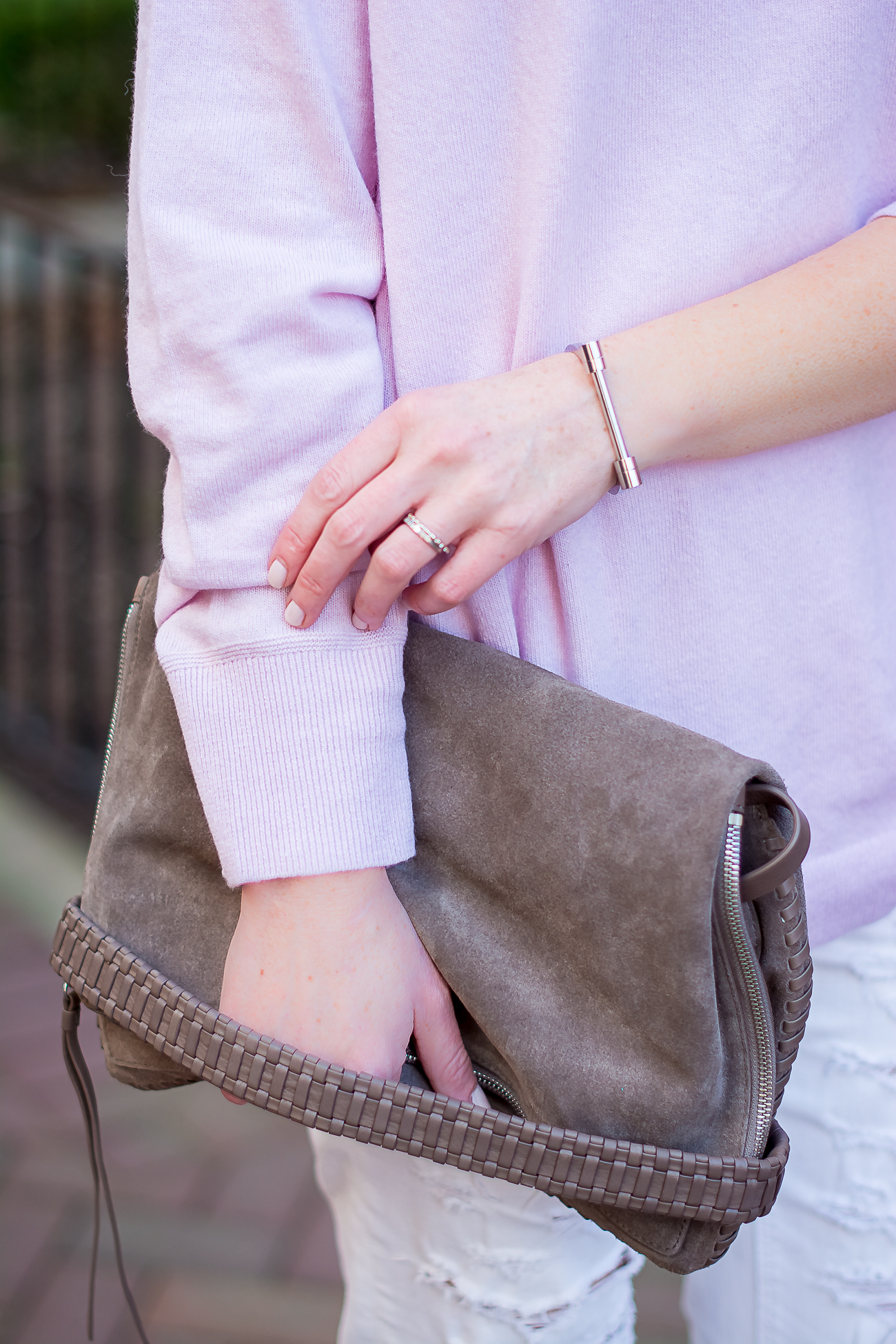 banana-republic-oversized-pink-wool-sweater-all-saints-convertible-clutch-simple-spring-pastels