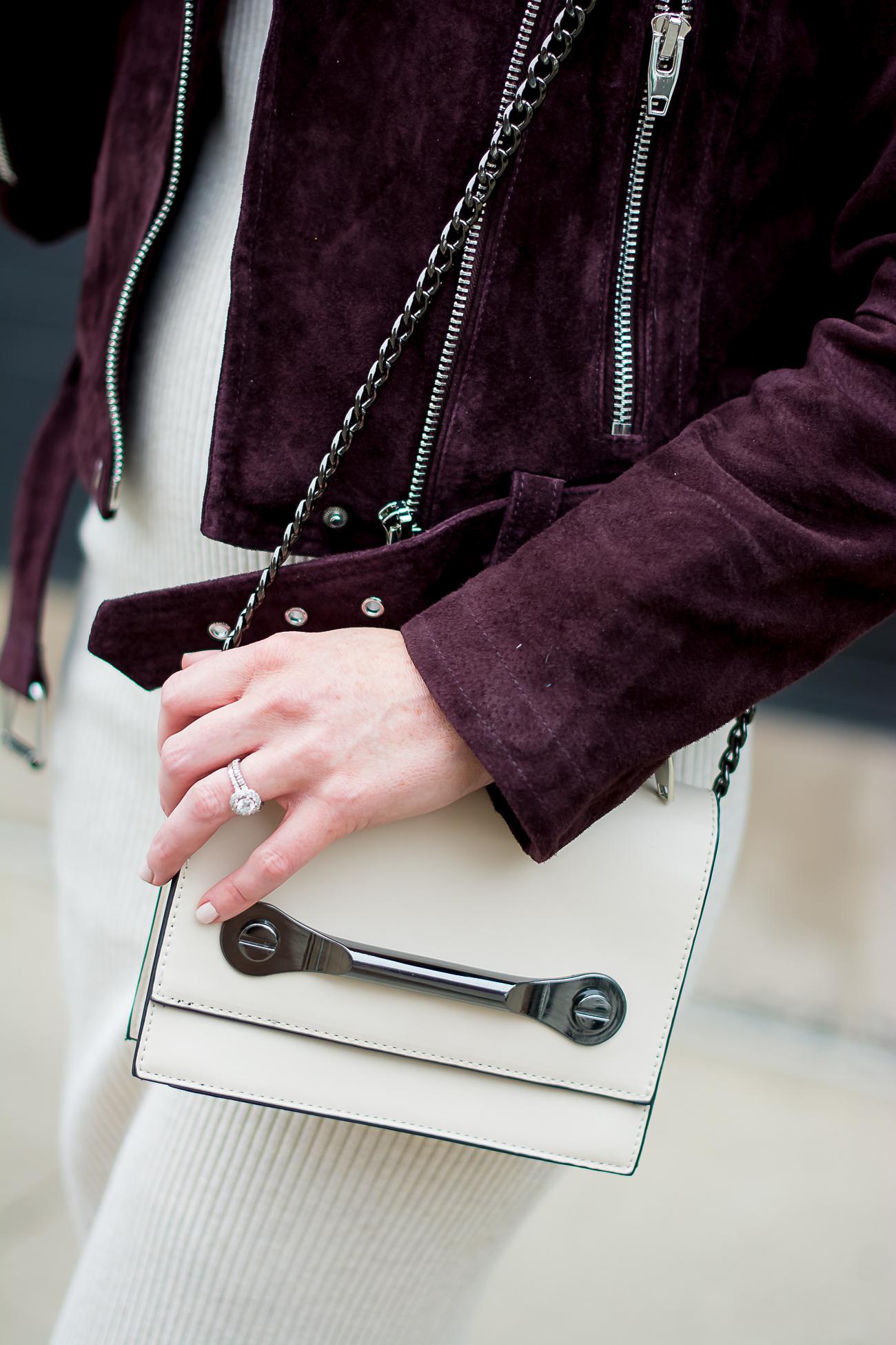 zara-rib-knit-bodycon-midi-dress-blank-nyc-burgundy-suede-moto-jacket