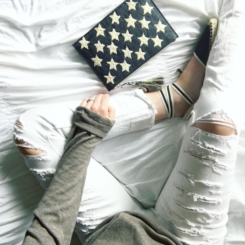instagram-kayu-black-star-pouch-soludos-espadrilles-white-jeans