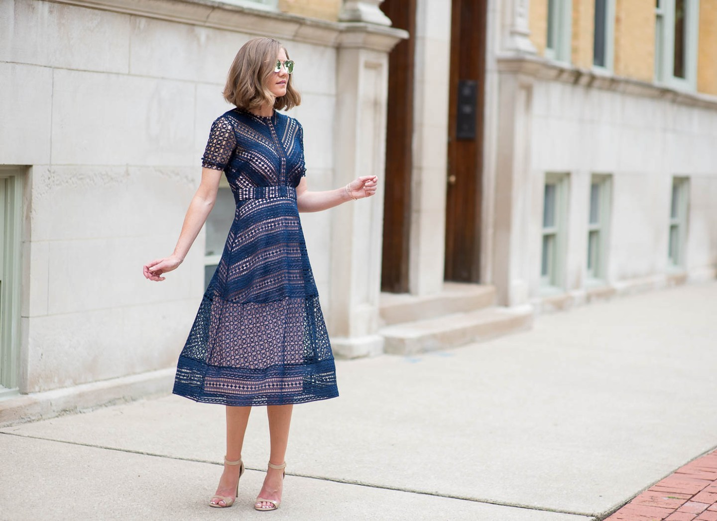 asos-premium-navy-lace-midi-dress-lace-and-leather-nyfw-new-york-fashion-week-what-to-wear-lace-for-fall-lace-statement-dress
