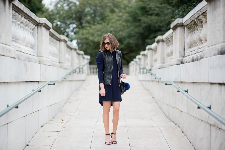 tart-faux-leather-moto-vest-lush-cowl-neck-sweater-dress-fall-layering-bag-charm-chicago-feminine-edgy-9331