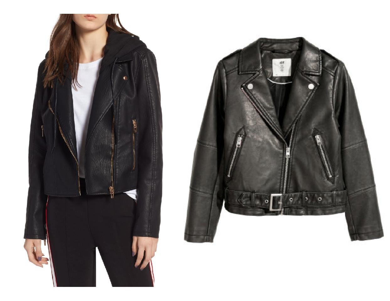 nordstrom anniversary sale dupes, black moto jacket