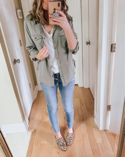 Casual spring fashion finds at Target, Target fashion, Spring Fashion, army green utility shirt