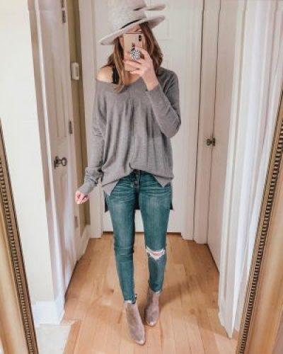 amazon off shoulder tunic sweater