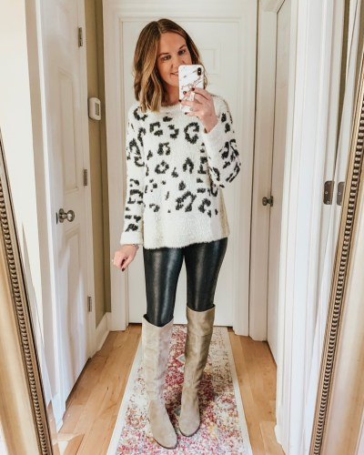fuzzy-leopard-sweater-over-the-knee-boots-amazon-finds