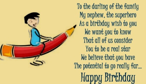 70 Birthday Wishes And Messages For Nephew Wishesgreeting